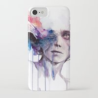 agnes iPhone & iPod Cases featuring l'assenza by agnes-cecile