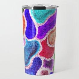 Flowy Gemstones Travel Mug