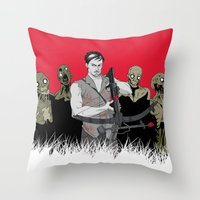 daryl dixon Throw Pillows featuring Daryl Dixon by ArtisticCole