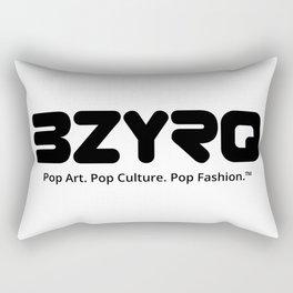 BZYRQ Logo (Black on White) Rectangular Pillow