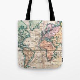 Vintage World Map 1801 Tote Bag