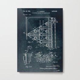 1947 - Pin setting machine for bowling alleys patent art Metal Print