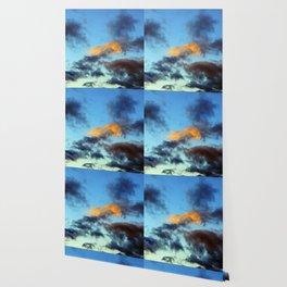 Fishy Cloud Glows in the Sky Wallpaper