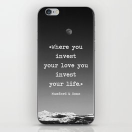 Invest your love iPhone Skin