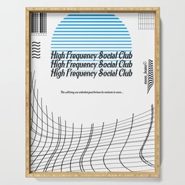 High Frequency Social Club Serving Tray