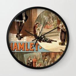 Vintage Hamlet Theatre Poster Wall Clock