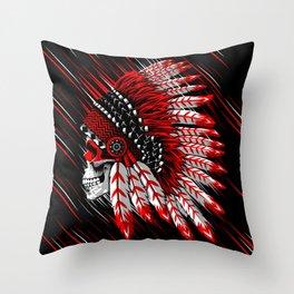 Skull Indian Throw Pillow