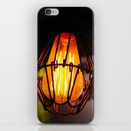 Edison Light Bulb in a Bar in Thailand iPhone Skin