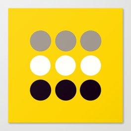 Abacus - Retro Dots On Yellow Background #decor #society6 #buyart Canvas Print