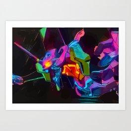 neon eva 01 Art Print
