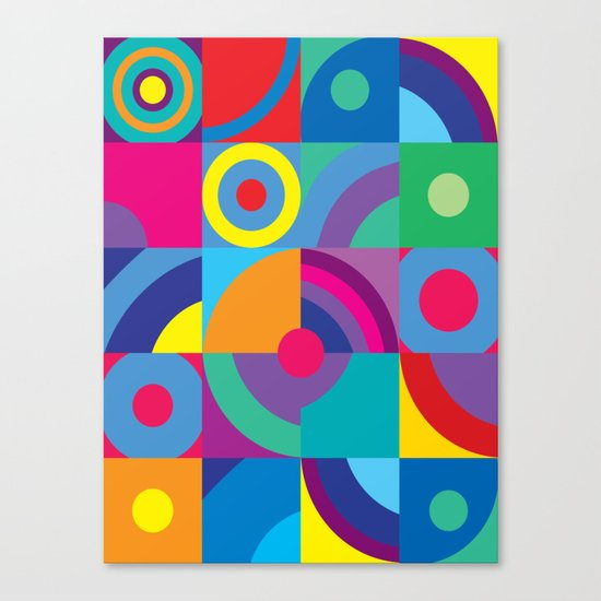 Geometric Figures in color Canvas Print