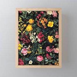 Floral and Birds Pattern Framed Mini Art Print