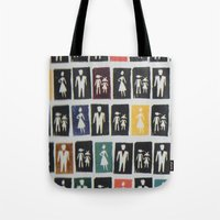 mad men Tote Bags featuring Mad men by WeLoveHumans