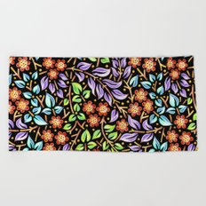 Filigree Floral smaller scale Beach Towel