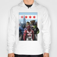 chicago bulls Hoodies featuring Chicago Sports by Carrillo Art Studio