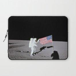 Apollo 12 - Astronaut American Flag Moon Laptop Sleeve