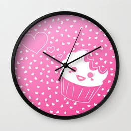 Cake Bites in Love Wall Clock