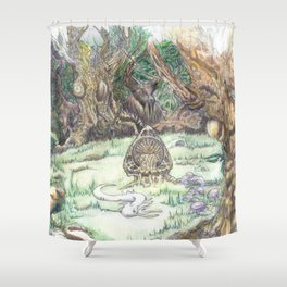 RHX Forest Logo Shower Curtain