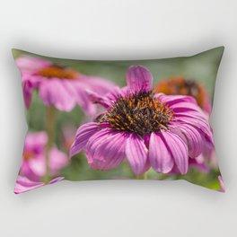 Pink Rudbeckia flower in summer garden Rectangular Pillow