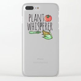 Plant whisperer Clear iPhone Case