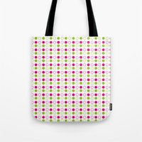 polka dot Tote Bags featuring Polka Dot by Ryan Grice