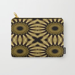 Subdued Gold Pinwheel Flowers Carry-All Pouch