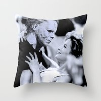 dirty dancing Throw Pillows featuring MICHAEL MYERS IN DIRTY DANCING by Luigi Tarini