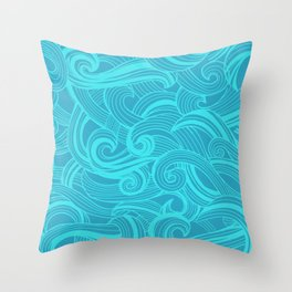 Sea billows Throw Pillow