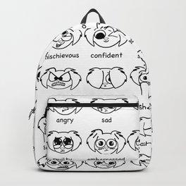 how do you feel? Black & White Backpack
