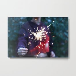 Sparks Will Fly Metal Print