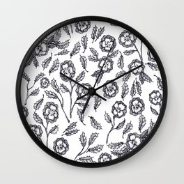 French Florals Wall Clock