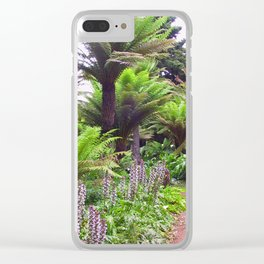 Prehistoric Tree Ferns Clear iPhone Case