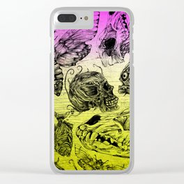 Bones and color Clear iPhone Case