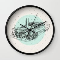 steam punk Wall Clocks featuring Steam punk by Bakani