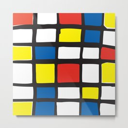Mondrian Variation 1 Metal Print
