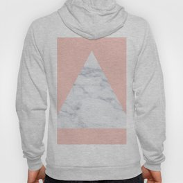 Blush marble triangle Hoody