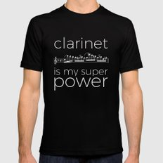 Clarinet is my super power (black) Black SMALL Mens Fitted Tee