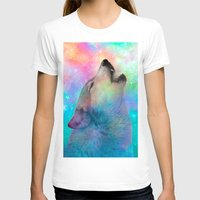 hobbes T-shirts featuring Breathing Dreams Like Air (Wolf Howl Abstract) by soaring anchor designs