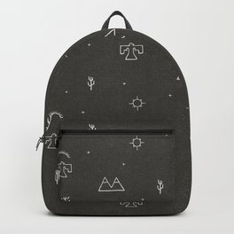 Death Valley in Black and Ivory Backpack