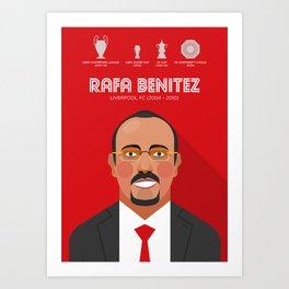 Rafa Benitez Liverpool FC Legend Art Print