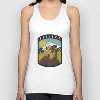 bigfoot Tank Tops featuring Bigfoot Patch by uhohreilly