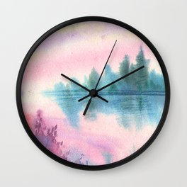 Enchanted Lake Wall Clock