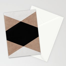 natural, cream and black triangles Stationery Cards