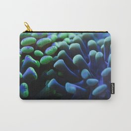 Macro photo of Hammer Coral (Euphyllia ancora) Carry-All Pouch