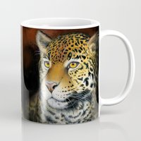jaguar Mugs featuring Jaguar by Claudia Hahn