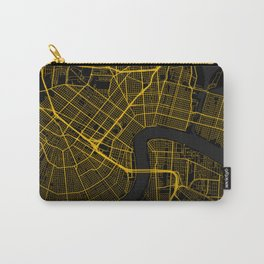 New Orleans Louisiana City Map | Gold American City Street Map | United States Cities Maps Carry-All Pouch