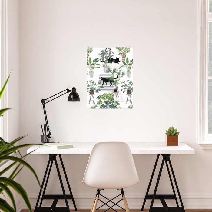 cats in the interior pattern Poster