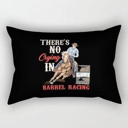 Barrel Racing - Horseracing Dressage Rodeo Event Rectangular Pillow