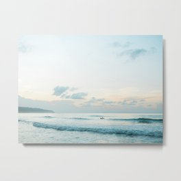 Once your board hits the ocean | Surf travel photography print | Central America Metal Print