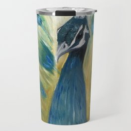 Brooding Peacock Travel Mug
